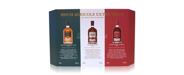 Rhum Vieux Agricole HSE Finitions du Monde - Coffret 2